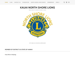 kauainorthshorelions.org screenshot