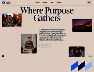 kauffmanfellows.org screenshot