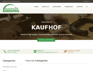 kaufhofusa.com screenshot
