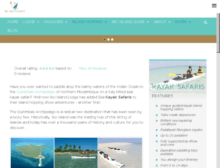 kayakquirimbas.com screenshot