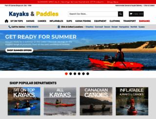 kayaksandpaddles.co.uk screenshot