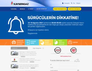 kayserigaz.com screenshot