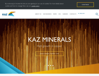 kazminerals.com screenshot