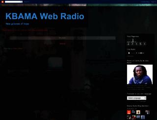 kbamaweradio.blogspot.com screenshot