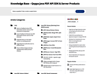 kbdeveloper.qoppa.com screenshot