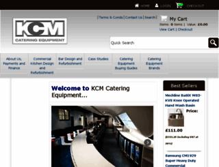 kcm-catering-equipment.co.uk screenshot