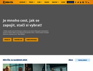 kdu.cz screenshot