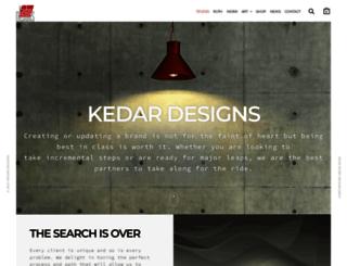 kedardesigns.com screenshot