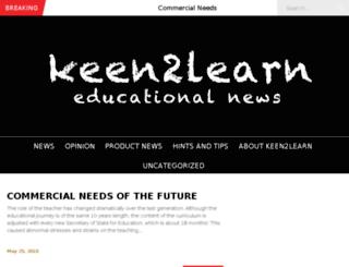 keen2learn.co.uk screenshot