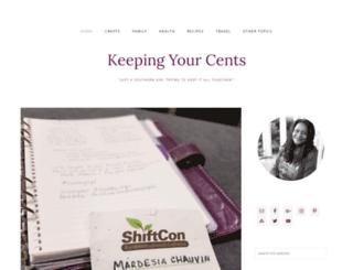 keepingyourcents.com screenshot