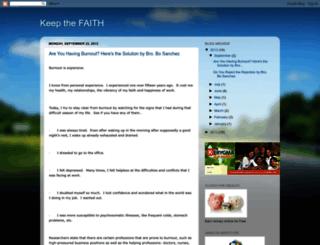 keepthefaith4.blogspot.com screenshot