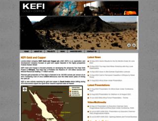 kefi-minerals.com screenshot