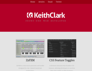 keithclark.co.uk screenshot