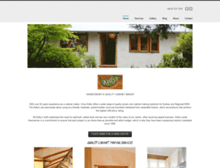 kellyscabinetsandjoinery.com.au screenshot