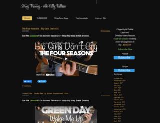 kellyvalleau.com screenshot