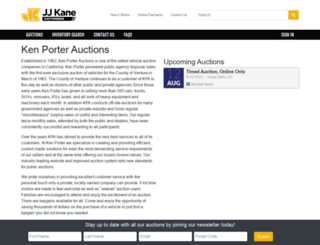 kenporterauctions.com screenshot