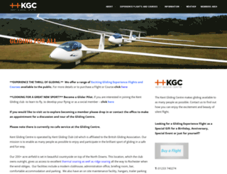 kent-gliding-club.co.uk screenshot