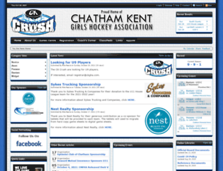 kentcountygirlshockey.ca screenshot