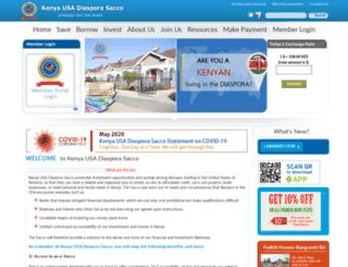 kenyadiasporasacco.com screenshot