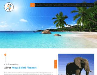 kenyasafariplanners.com screenshot