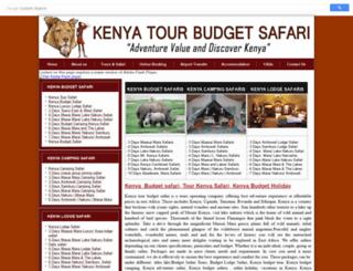 kenyatourbudgetsafari.com screenshot