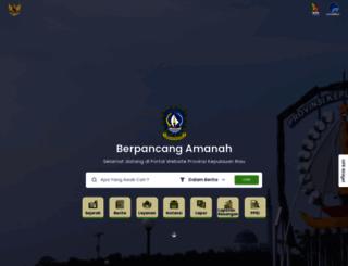 kepriprov.go.id screenshot