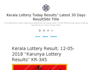 keralalotteryresultnet.wordpress.com screenshot
