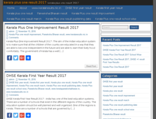 keralaplusoneresult2016.in screenshot