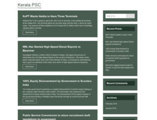 keralapscjobs.com screenshot