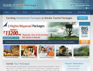 keralatouristpackages.com screenshot
