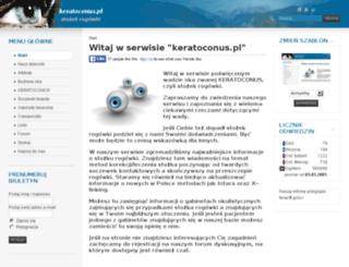 keratoconus.pl screenshot