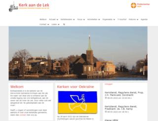 kerkaandelek.nl screenshot