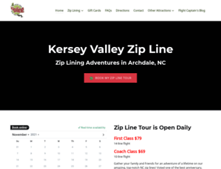 kerseyvalleyzipline.com screenshot