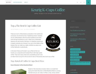 keurigkcupscoffee.wordpress.com screenshot