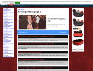 kevblog.co.uk screenshot