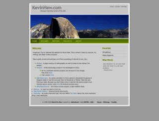 kevinhaw.com screenshot