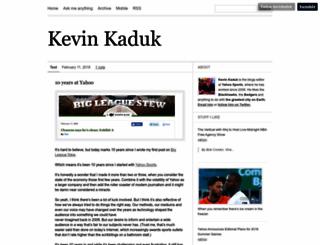 kevinkaduk.tumblr.com screenshot