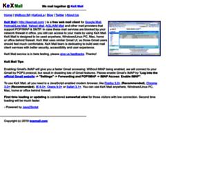 kexmail.com screenshot