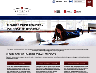 keystoneschoolonline.com screenshot