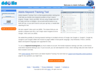 keyword-tracking-tool.adolix.com screenshot