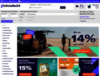 kfzteile24.de screenshot