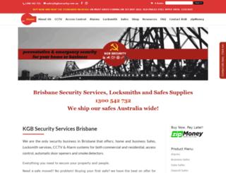 kgbsecurity.com.au screenshot