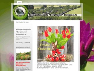 kgv-bergfrieden.de screenshot