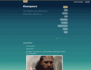 khanspeare.tumblr.com screenshot