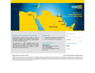 kharafinational.tejari.com screenshot