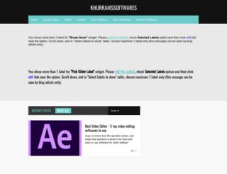 khurramssoftwares.blogspot.co.uk screenshot