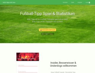 kick-tipp.com screenshot