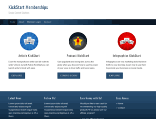kickstartmemberships.com screenshot