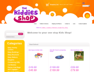 kiddies-shop.co.uk screenshot
