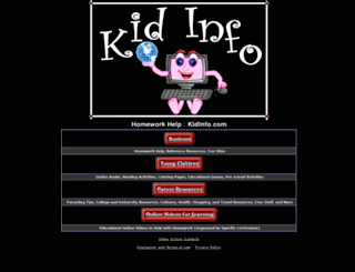 kidinfo.com screenshot